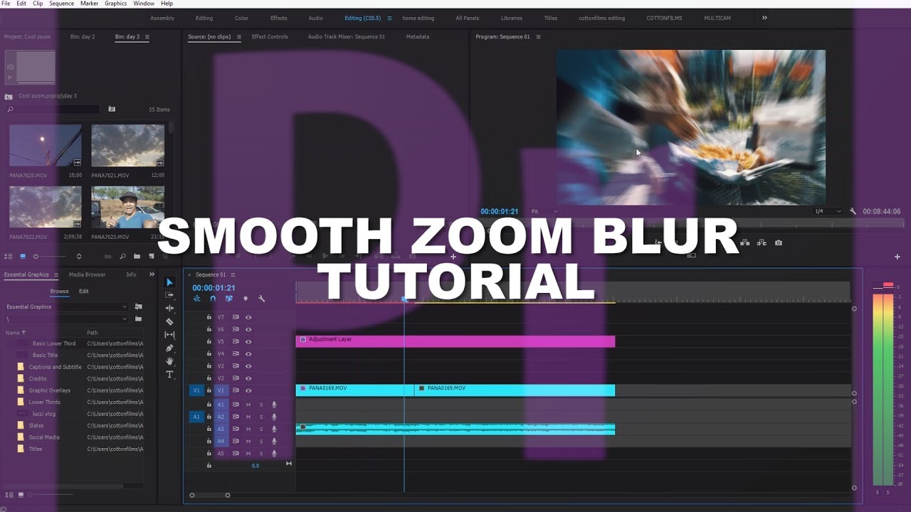how to make zoom in adobe premiere