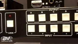 InfoComm 2015: Comprehensive Highlights HDMI 4x4 True Matrix Switcher Splitter/Extender Over Cat5e/