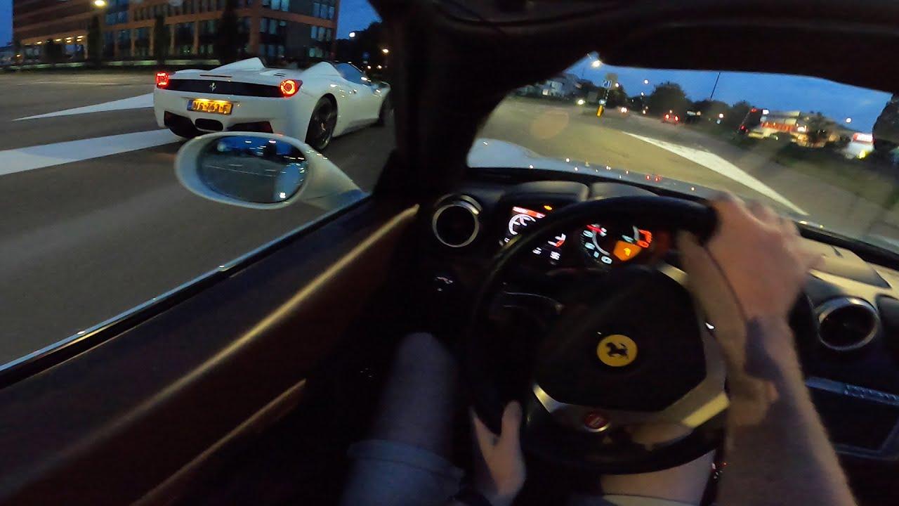 FERRARI California *LOUD* POV NIGHT Drive by AutoTopNL