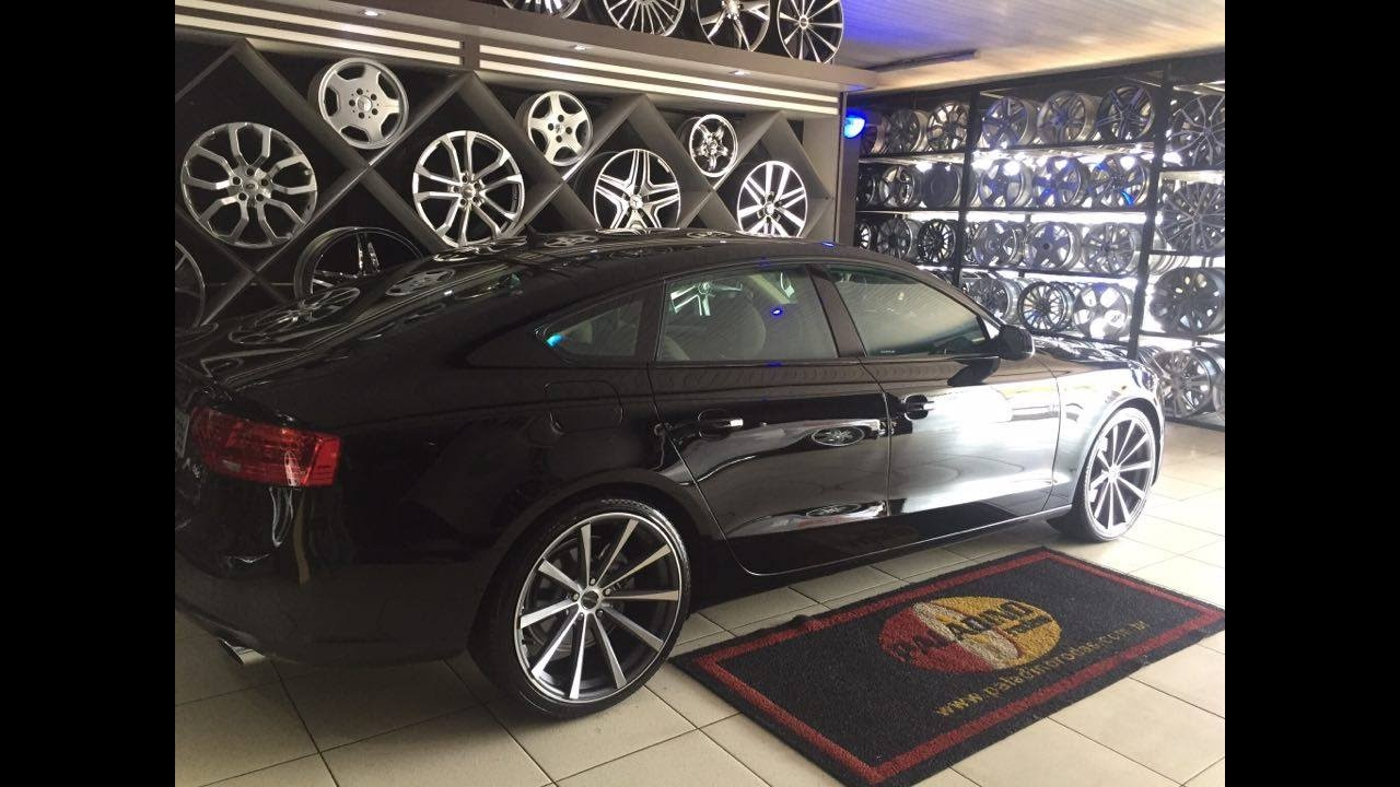 Audi A5 Com Rodas Aro 20 Pdw Eclipse Youtube