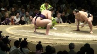 魁聖今場所頑張りましたが、相撲巧者に当たるとまだ力量不足です。