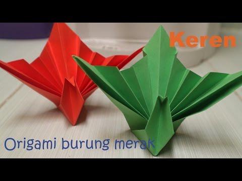 Langkah membuat origami burung merak keren