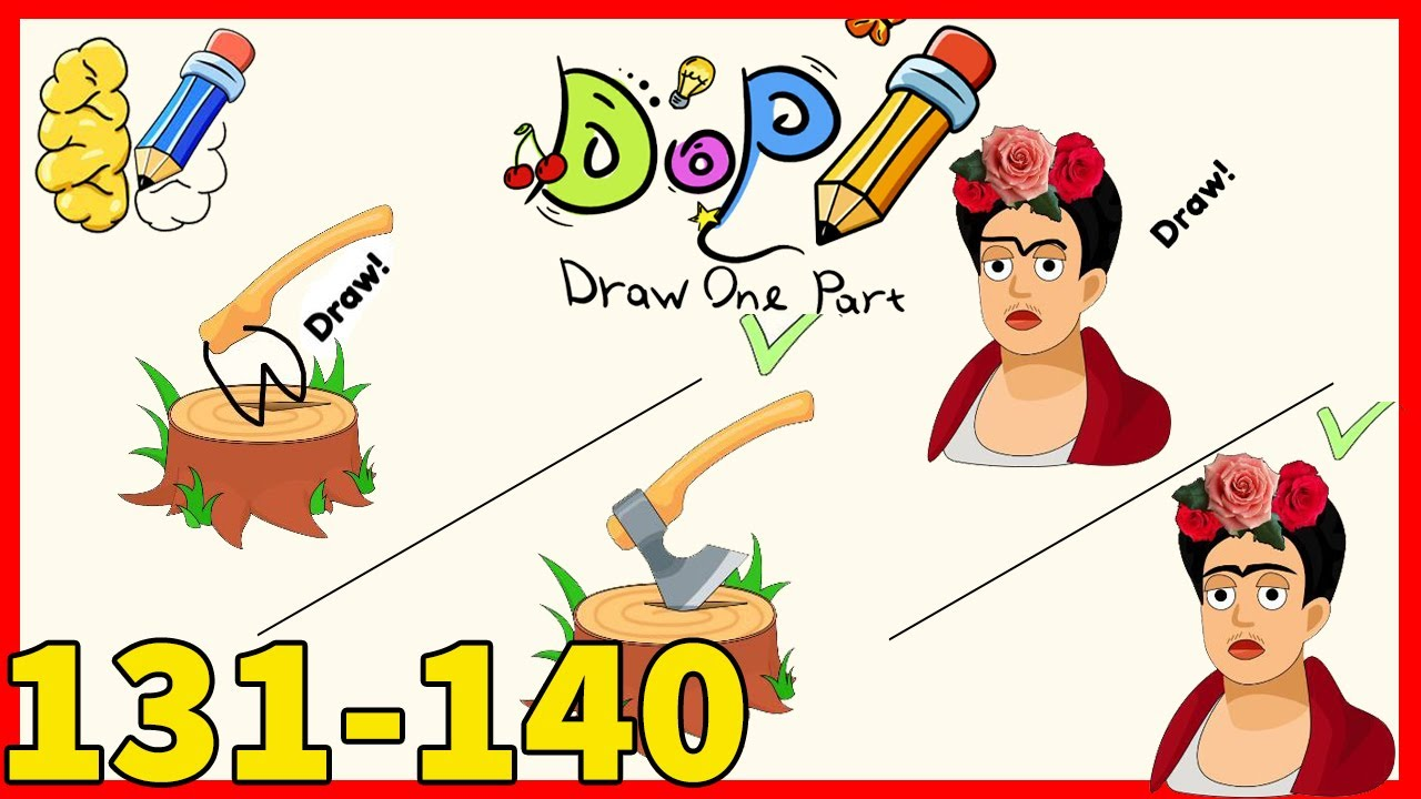 Dop Draw One Part Level 131 132 133 134 135 136 137 138 139 140