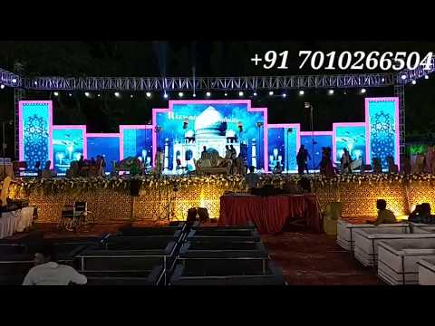 LED Screen Video Wall Wedding Reception Stage Decoration India 81225 40589 (WA)
