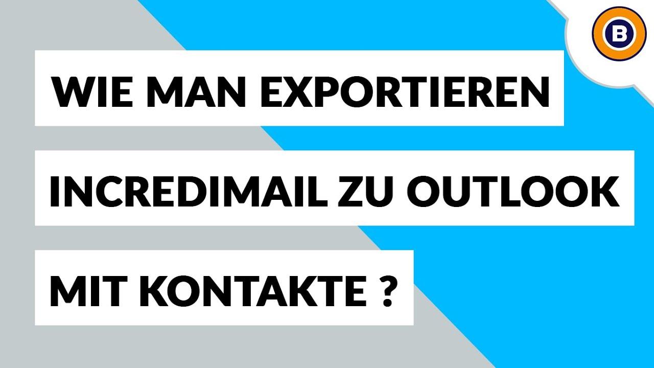 kontakte aus outlook exportieren