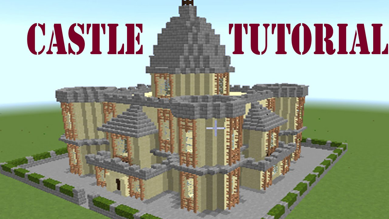 MINECRAFThow to make a castle  easy castle 27  YouTube