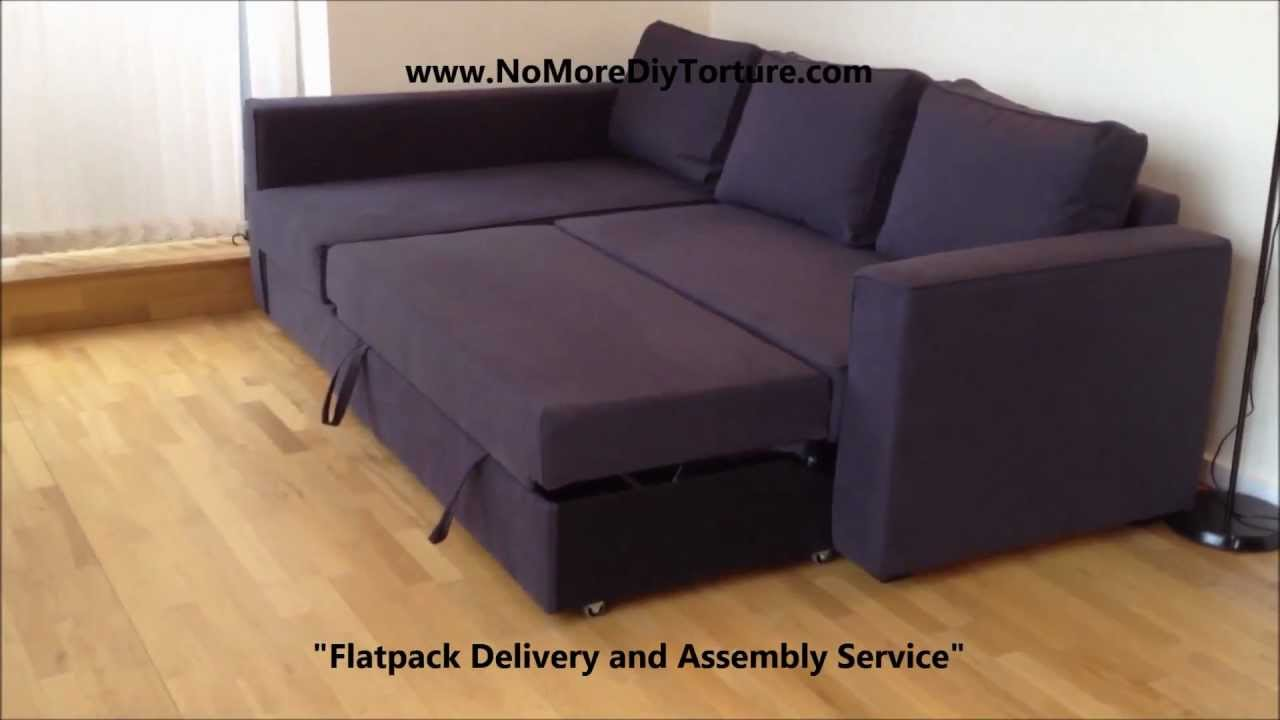 Ikea Chaise Longue Slaapbank.Ikea Manstad Corner Sofa Bed With Storage V2 Youtube