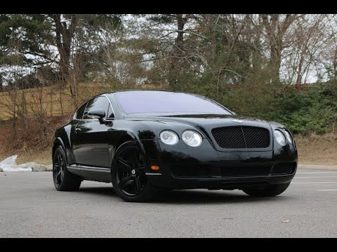bentley continental blacked out review walk around 2005 model - youtube