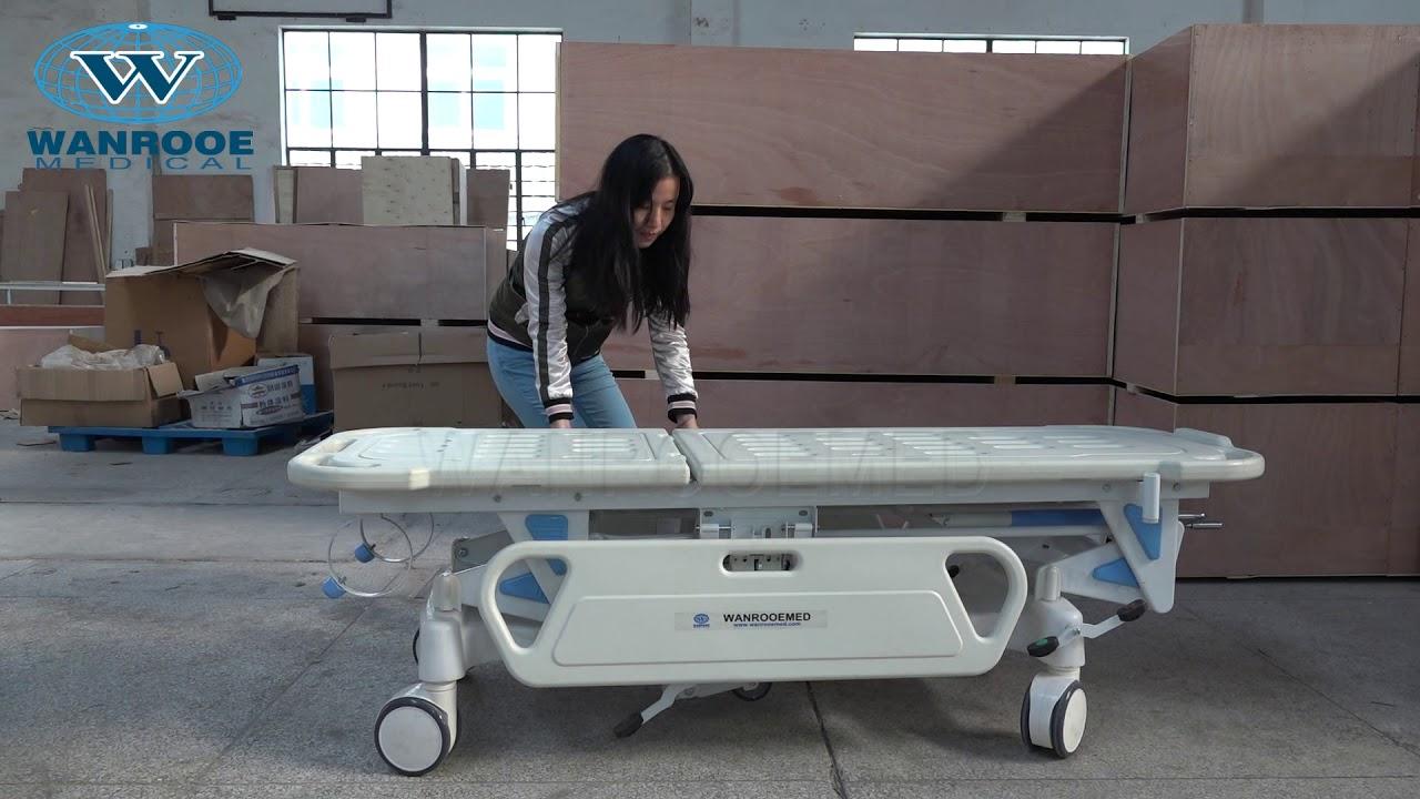 BD111 Hospital Emergency Transport Manual Transfer Trolley Medical  Stretcher For Sale