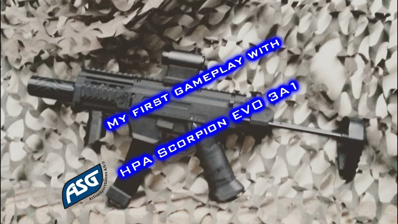 My First Gameplay With Asg Hpa Scorpion Evo 3a1 Youtube