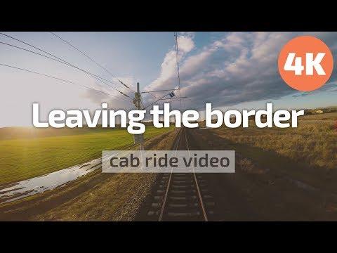 4K Cab Ride Bulgaria 🛤️ Leaving the Turkish border zone 🛂 (Svilengrad - Dimitrovgrad) BDZ 44 002