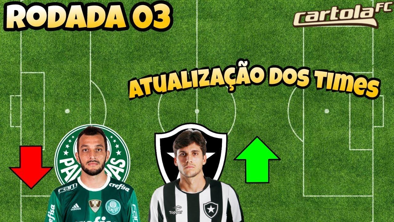 CARTOLA FC 2018 - DICAS PARA A RODADA 03 - TIMES ATUALIZADOS - YouTube 43b4087c98324