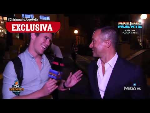João Félix and Jorge Mendes caught by El Chiringuito in Madrid.