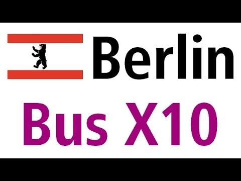 Berlin bus X10: S+U Zoologischer Garten - S Teltow Stadt