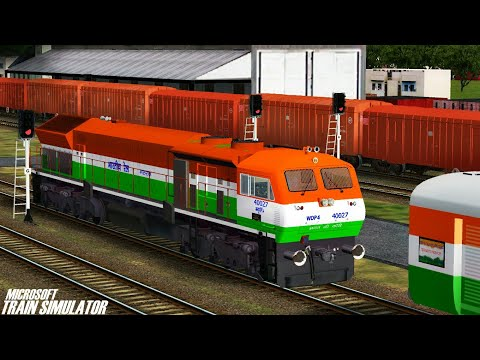 Independence Day Special Express Train || NFR || MSTS Open Rails Journey