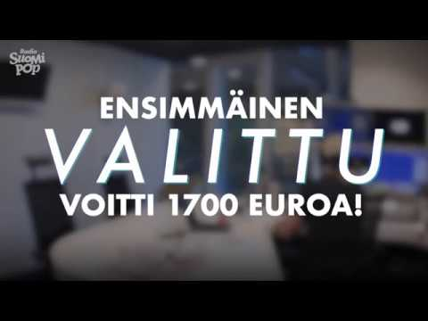 Radio Suomipopin ensimmäinen Valittu voitti 1700 euroa