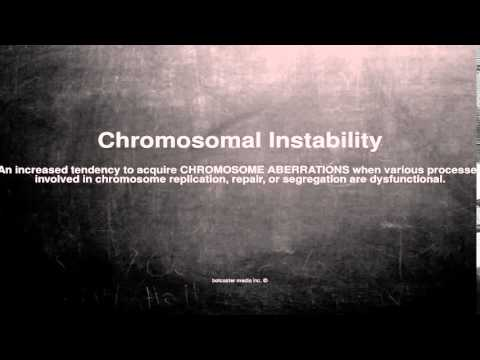 Medical vocabulary: What does Chromosomal Instability mean