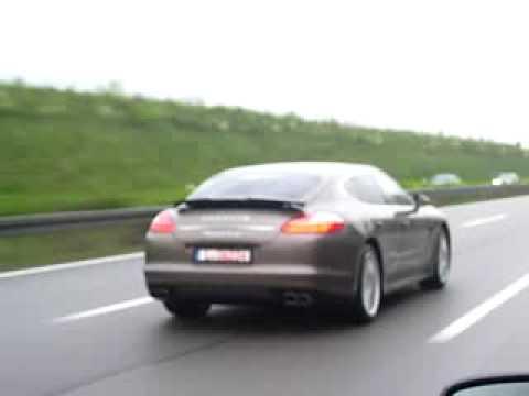 Porsche Panamera Turbo az A6on Nmetorszgban  YouTube