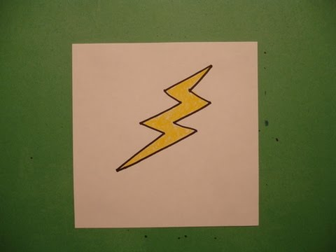 Let's Draw a Lightning Bolt - YouTube
