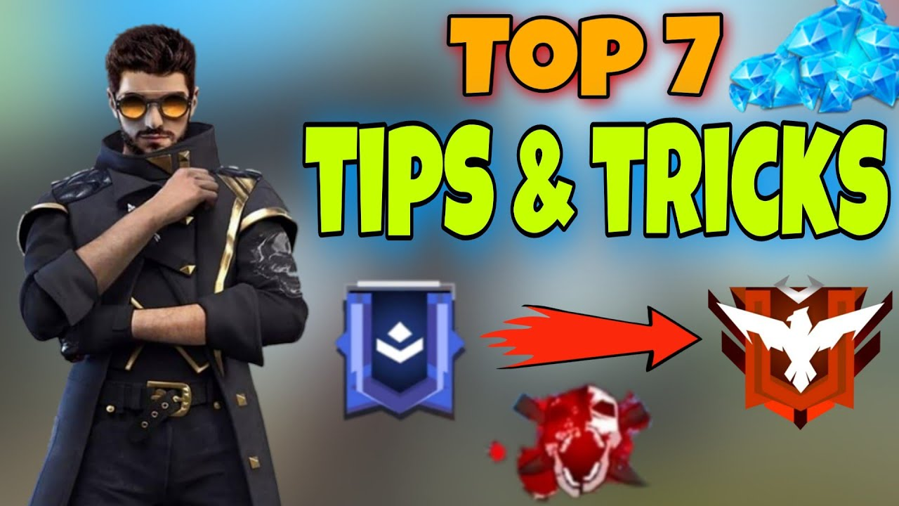 7 TIPS AND TRICKS FOR RANKED CLASHED MATCH || SECRET HIDDEN PLACES || FREE FIRE