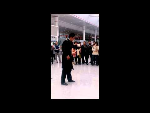 Dancing in Guiyang Railway Station