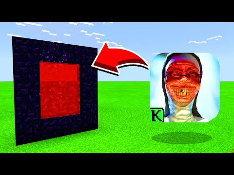 How To Make A Portal To  EVIL NUN In Minecaft Pocket Edition/MCPE