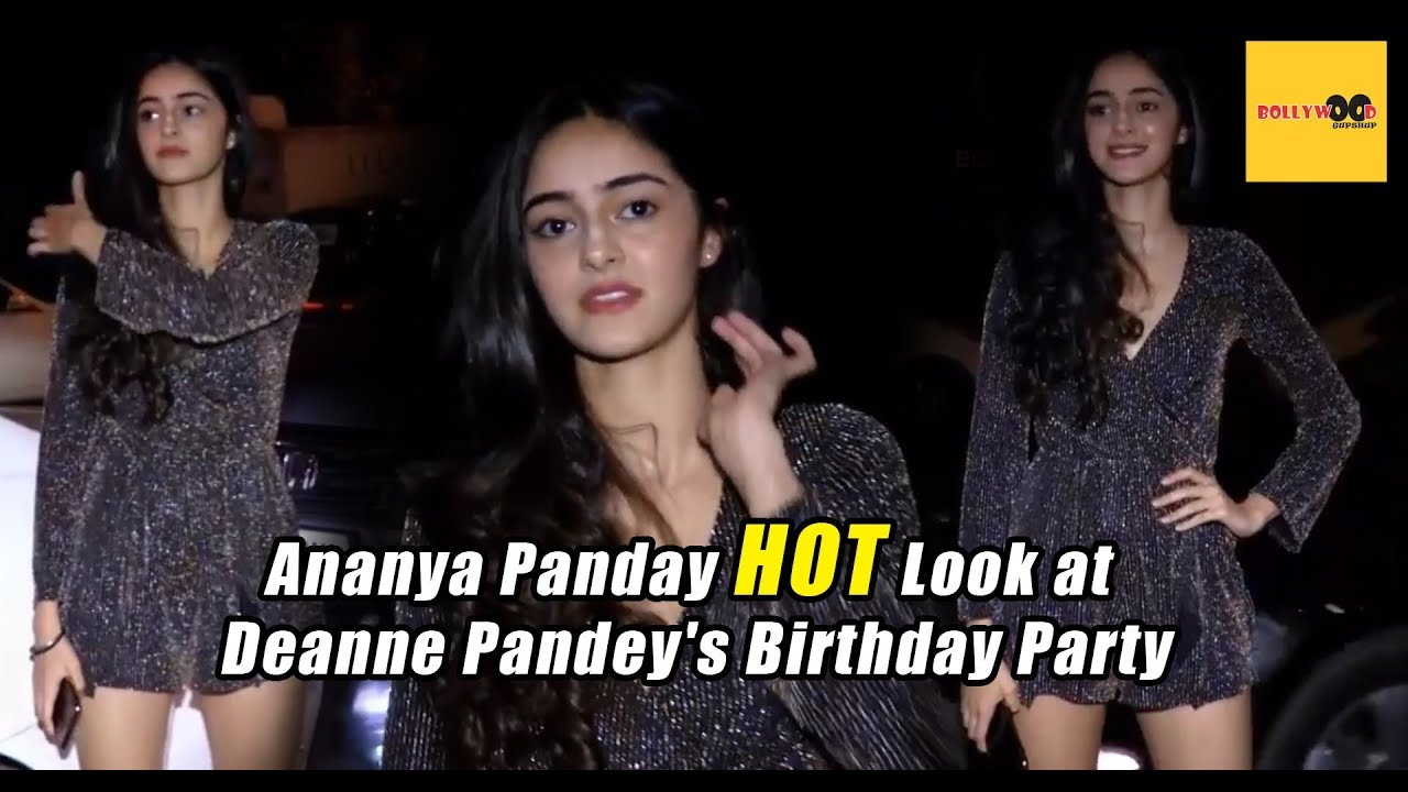 Ananya Pandey Hot Look At Deanne Pandey S Birthday Party Bollywood