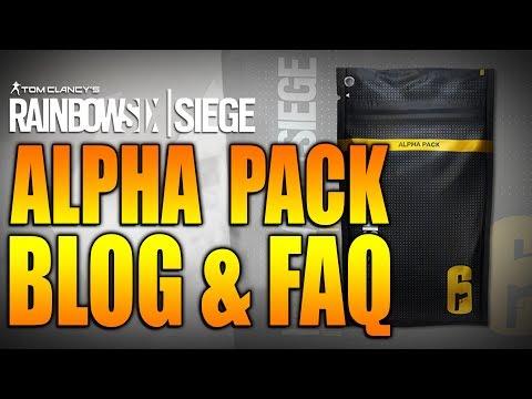 Rainbow Six Siege - In Depth: ALPHA PACK BLOG & FAQ