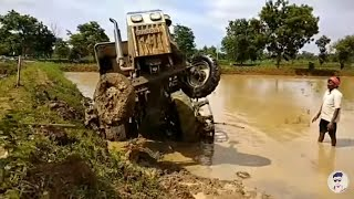 Talented driver😎  Amazing tractor  