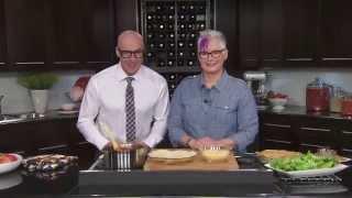 Tortilla Pie & Caesar Salad With Chicken Strips-great Tastes 2014
