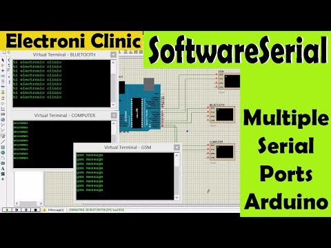 SoftwareSerial Library For Making Multiple Ports Using Arduino And Proteus | Multi Ports