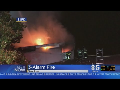 San Jose Firefighters Knock Down Blaze At Abandoned Dentist's Office