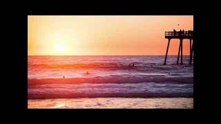 Background Music: Guitar Sounds & Beach Waves | Relaxing instrumental music for Study & Work