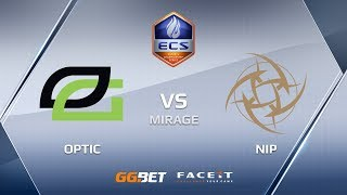 OpTic vs NiP, mirage, ECS Season 6 Europe