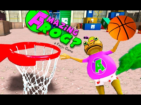 УДИВИТЕЛЬНАЯ ЛЯГУШКА Пукает и играет в баскетбол  ДЛЯ ДЕТЕЙ Amazing Frog