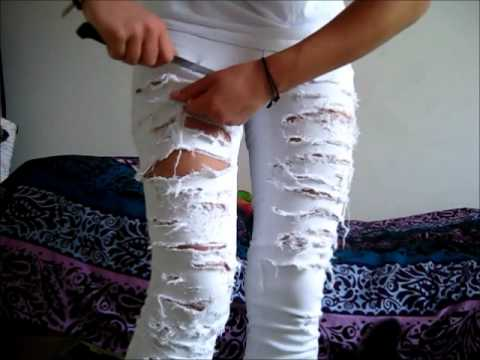 How to cut your jeans - YouTube