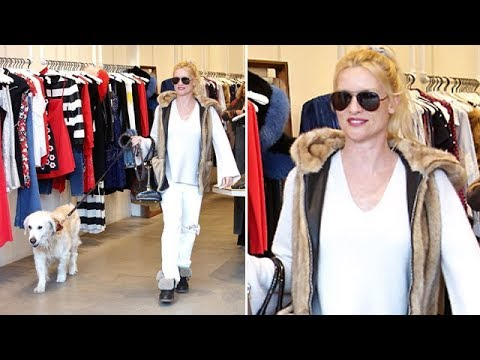 TV Star Nicollette Sheridan Enjoying An Afternoon In Beverly Hills
