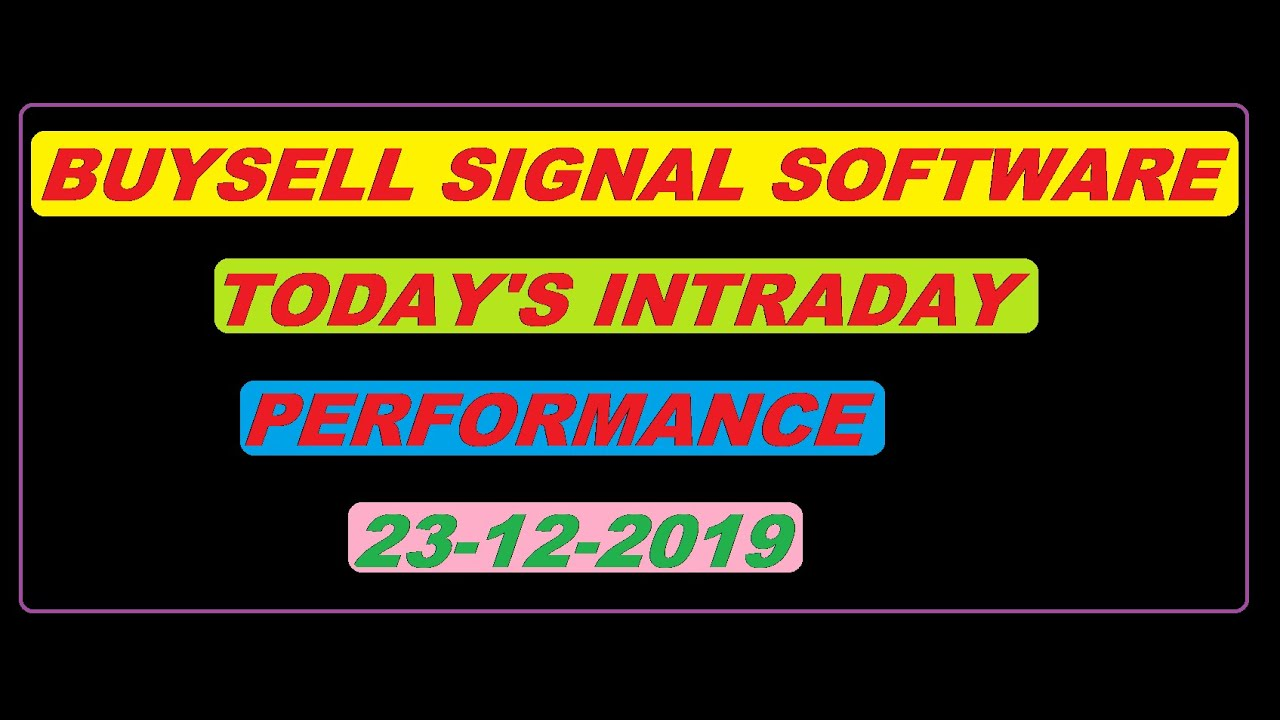 Auto buy sell signal software for intraday best ...