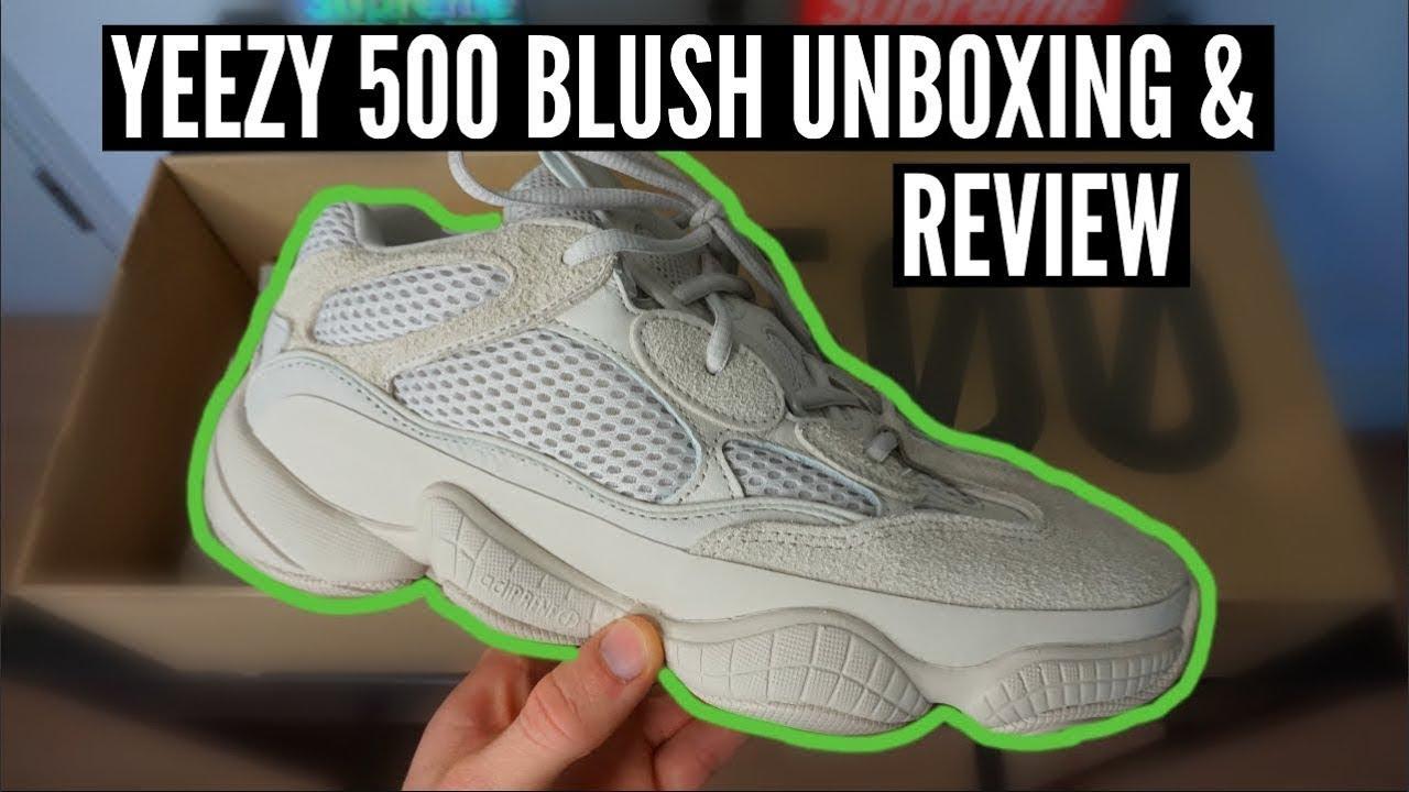 d08e0a769 Yeezy Desert Rat 500 Blush colorway Review - YouTube