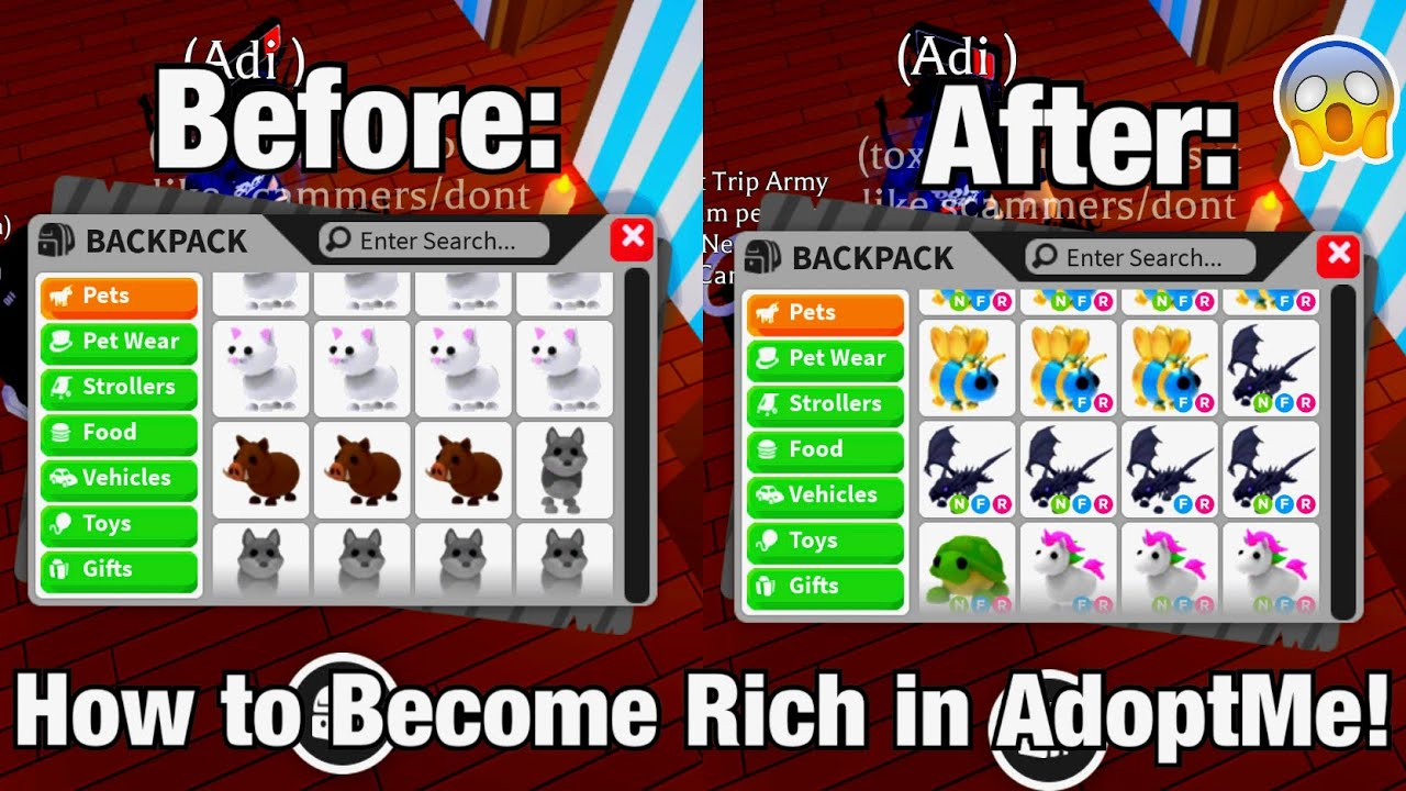 How To Become Rich In Adoptme Fast Roblox Adoptme Youtube