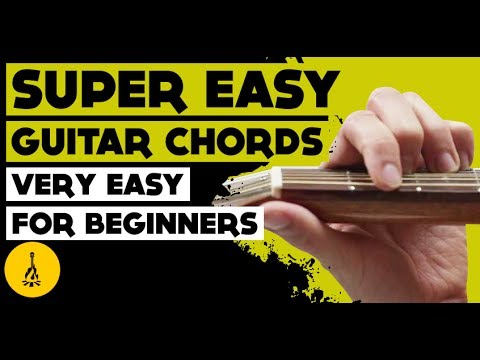 Super Easy Guitar Chords Very Easy Guitar Chords For Beginners