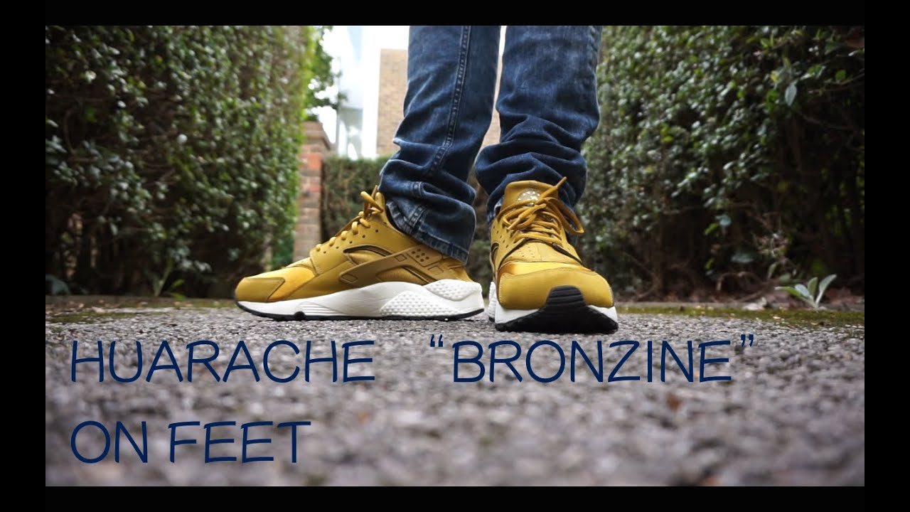 b3131b2aba7b Nike Air Huarache Bronzine Bronze Sail Gold On Feet - YouTube
