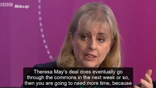 Catherine Barnard on BBC Question Time: is delaying Brexit inevitable?