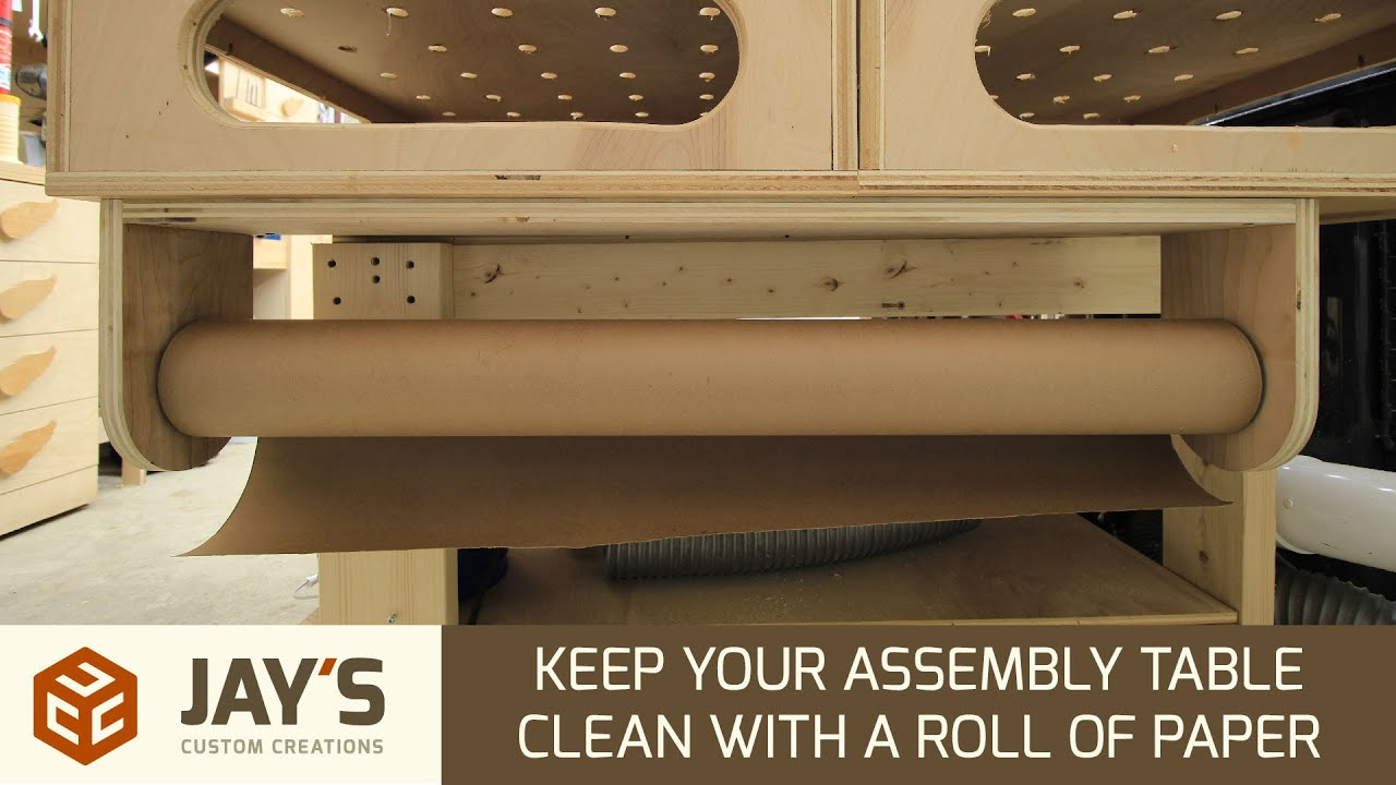 Keep your assembly table clean with a roll of paper 231 youtube jeuxipadfo Choice Image