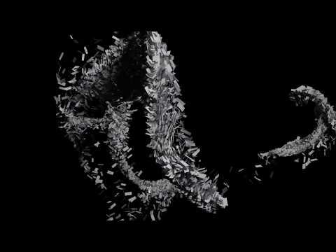 Blender 3D 2.8 Particle plane flow simulation
