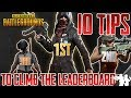 10 Tips on How to Achieve a Higher Rating in the New PUBG Leaderboard Season | New Season Update
