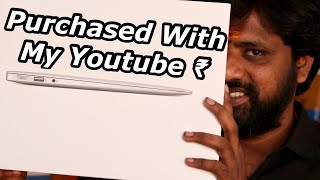 MacBook Air Unboxing & Initially Impressions, Earned With My Youtube Money || In Telugu ||