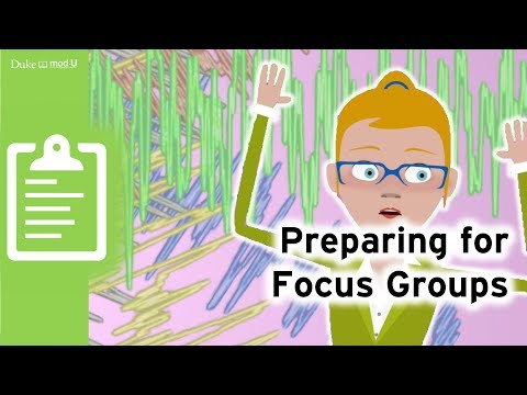 Preparing For Focus Groups: Qualitative Research Methods