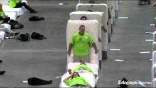Human mattress dominoes attempt breaks world record thumbnail