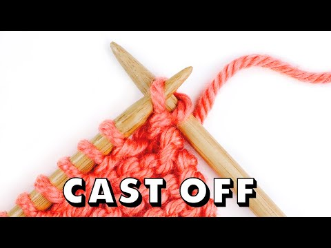 How to BIND OFF Knitting for Total Beginners